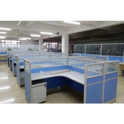 厂家订制职员办公桌简约现代屏风隔断4人电脑员工位办公桌椅组合家具卡座