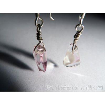 定制925银镀金健康磁性耳环 耳钉 传音耳环—粉晶首饰定制厂家