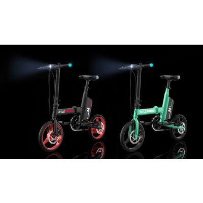 爱维乐ivelo折叠电单车M1锂电车电动自行车助力自行车微电动车14寸电机踏板车