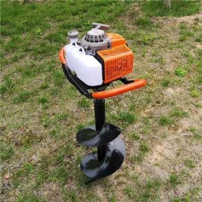 志成汽油小型地钻机使用视频 多功能便携式打孔机 手提式地钻打孔机