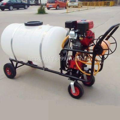 手推式喷雾器 东莞园林打药机 四轮车手推式汽油打药机