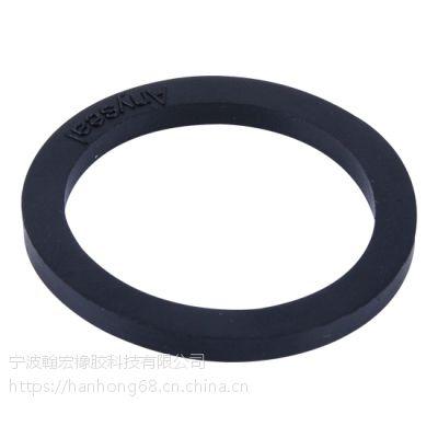 宁波翰宏EPDM圆形胶垫,现货供应管道接头平垫圈,