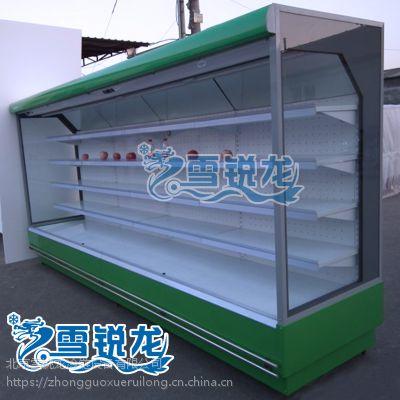 超市猪肉保鲜柜风幕柜串串选菜柜点菜台定做水果蔬菜冷藏柜