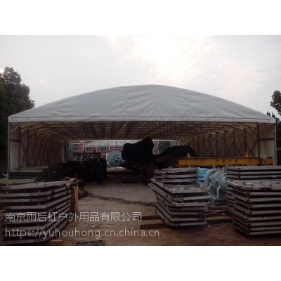 钢管仓储帐篷遮阳棚遮阳篷移动推拉式帐篷76CM钢管大棚有手动可做电动墨绿色蓝色刀刮布