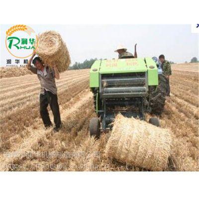 拖拉机带稻草打捆机 干湿草料打包机 牧草青贮捆草机