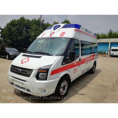 直销福特新世代全顺V348国V负压型救护车报价