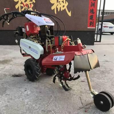 大棚蔬菜专用旋耕机 自走式除草机 多用途大葱大姜培土机