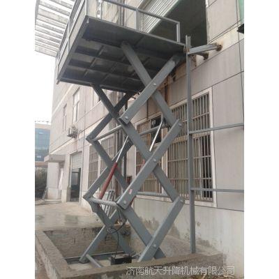 南通工厂装卸货物提升机二手 导轨升降货梯报价 非标定制济南航天