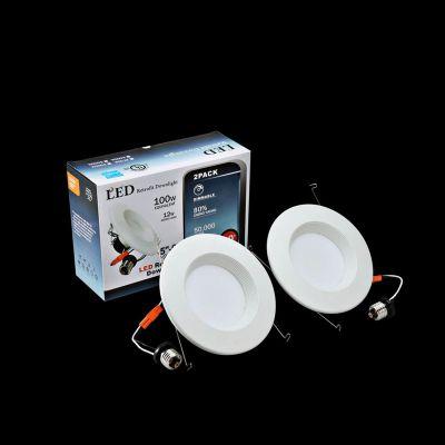 优信光LED可调光筒灯 E26灯座5/6寸12W AC120V筒灯套件 美国UL认证5年质保