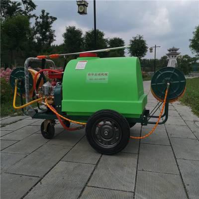 果园推车式打药机 手推式喷药车 300升小型四轮汽油杀虫机