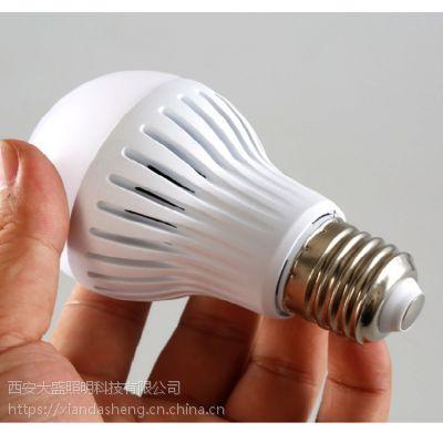 陕西3瓦LED声光控球泡灯 物业楼道节能专用5瓦LED声控灯