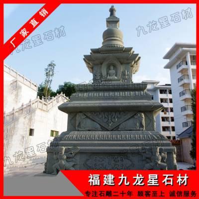 惠安石雕厂家长期供应青石佛塔 精雕多层景观佛塔 青石石塔定制