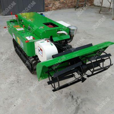 柴油动力自走式开沟施肥机 果树施壮苗肥机 履带田园管理机