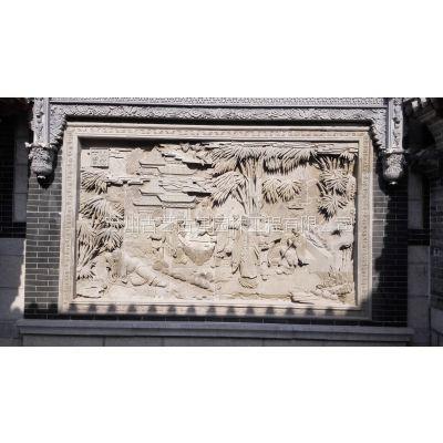 供应室外泥塑 砖雕门楼 大型砖雕别墅
