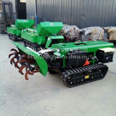 履带小坦克式葡萄板栗树施肥机 原地转弯自走式旋耕机