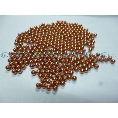 红铜珠1mm大量现货导电率高1.45mm紫铜球耐腐蚀2.05mm实心铜珠子广东