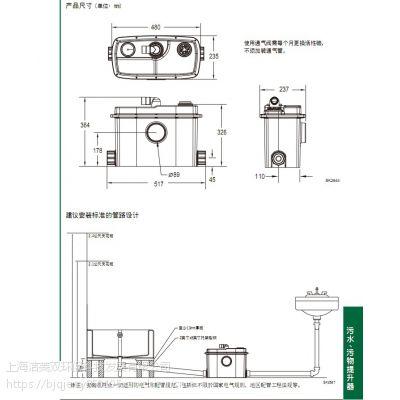 美国卓勒QJU202自带止回阀片污水提升泵