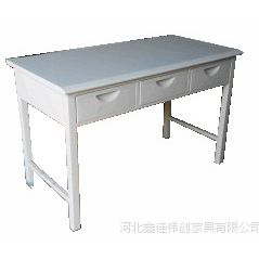 工厂直销 中式金属钢制三屉桌 办公桌 环保产品 周边免运费送货