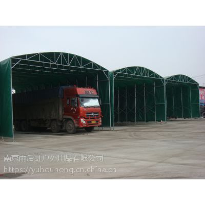 钢管仓储帐篷遮阳棚遮阳篷移动推拉式帐篷76CM钢管大棚有手动也可做电动墨绿色蓝色刀刮布