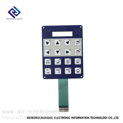 可定制的MBR带印花薄膜开关、薄膜面板。