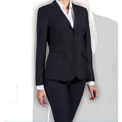 北京女西服厂家生产定制女两扣修身职业女毛呢西装订做