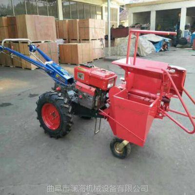 电启动多功能手扶玉米收割机 全新柴油苞米收获机 剥皮摘玉米机