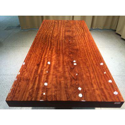 巴西花梨实木大板桌211长96宽工厂直销各尺寸材质大板桌办公茶台餐桌 整体桌根雕茶几摆件