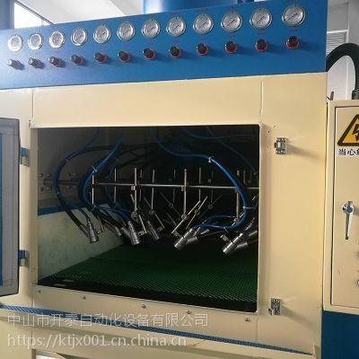深圳厂家直供12枪输送式全自动喷砂机高效环保表面处理喷砂机