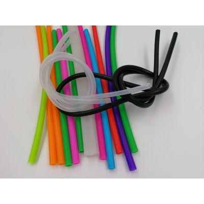厂家(深圳)定制环保彩色硅胶管 外国彩色吸管 挤出管 真空柔软水烟配件阻燃硅胶管