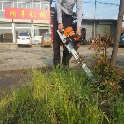 链锯挖树机图片 起树移栽链锯挖树机厂家 润丰