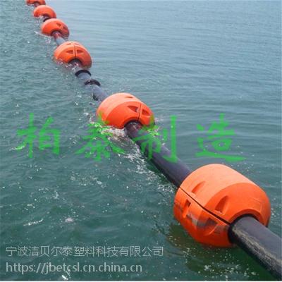 大浮力抽沙管道浮筒夹铁管水上浮筒厂家