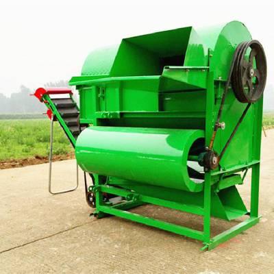 25马力拖拉机传动轴带动花生摘果机 全喂入式秧果分离机 拔果子机