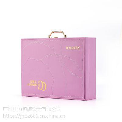 厂家直销化妆品外包装盒 烫金PU皮革化妆品包装精美皮盒
