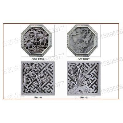 昆明中式隔扇门青砖砌块厂家福字壁画