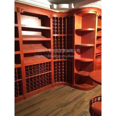 厂家定制实木酒柜家具地窑整体实木红酒柜