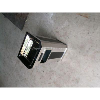 坤达GPX-0高档靠墙果皮桶 不锈钢座地垃圾桶 写字楼酒店过道专用 斜角带烟灰缸果皮桶 可定制