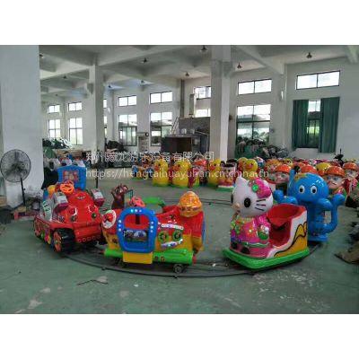 游乐园小型游乐豪华轨道火车 户外儿童电动娱乐玩具小火车 娱乐单座小火车