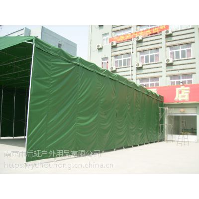 新式钢管仓储帐篷遮阳棚遮阳篷移动推拉式帐篷76CM钢管大棚有手动可做电动墨绿色蓝色刀刮布