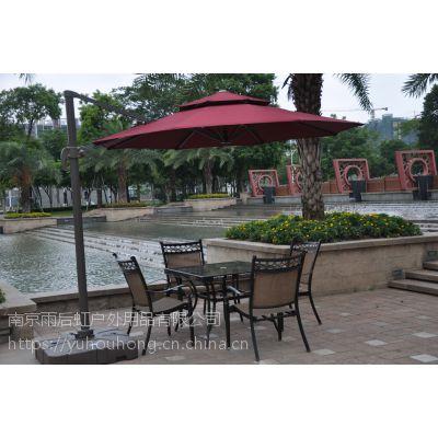 新款欧式铝合金庭院伞保安物业岗亭伞遮阳伞可配桌椅可印LOGO可定制颜色伞面有透明过胶涤纶布伞面