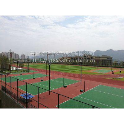 """重庆比赛篮球场塑胶地坪材料,硅PU型5MM厚,广东""""绿草地""""牌硅PU"""