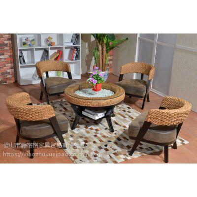 藤格格 302-13 厂家批发现代中式藤椅三件套阳台桌椅庭院客厅休闲桌椅