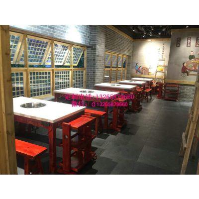 火锅桌子图片,火锅桌价格,电磁炉火锅桌图片款式
