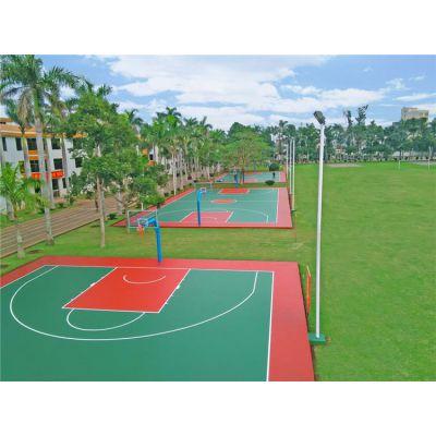 南宁室外篮球场塑胶场地 硅PU篮球场 学校 企业 飞跃体育