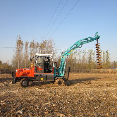 万泰厂家直销 公路铁路两用轮式挖掘机 链条式公铁两用挖机