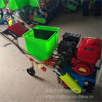 茶园菜园施肥松土机 柴油动力链轨式耘播机 农用手推耘播机