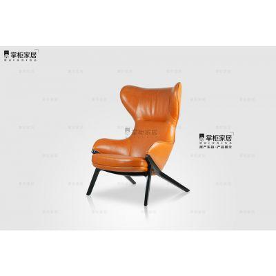 p22椅新款当代设计师休闲实木沙发椅样板房设计师家具