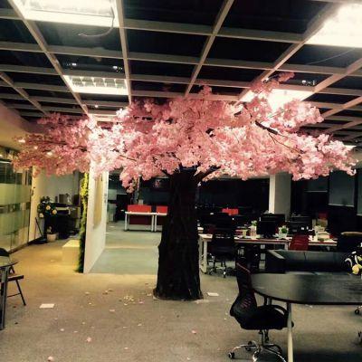 人造四叉 三叉垂直樱花树 可定制PE材质
