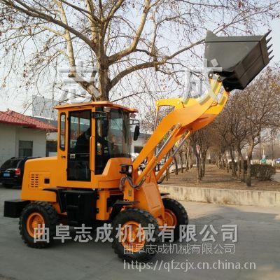轮式液压前卸式装载机 单杠四轮多功能小铲车 矿业轮式铲运机价格