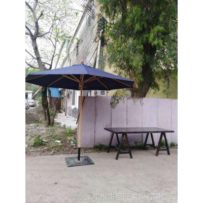 供应品旺进口缅甸柚木中柱伞(TY-013)