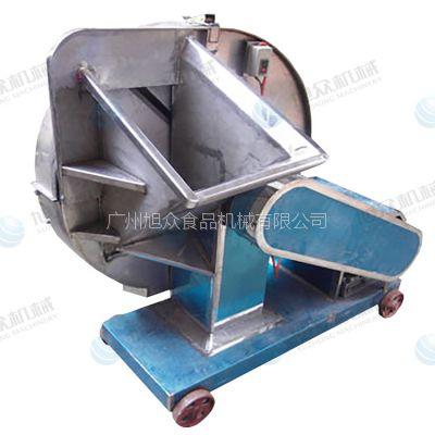 供应旭众牌冷冻肉刨碎机 不锈钢刨肉机 刨羊肉卷牛肉卷的机器 刨肉机商用